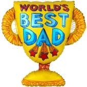 World´s Best Dad Pokal, Luftballon zum Vatertag inklusive Ballongas Helium