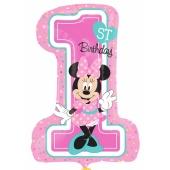 Minnie Maus 1st Birthday, Luftballon, Shape ohne Helium-Ballongas