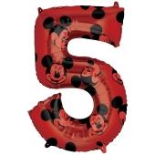Micky Maus Forever, Zahl 5 Luftballon, Shape ohne Helium-Ballongas
