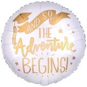 The Adventure Begins, Luftballon aus Folie mit Helium Ballongas