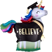 Graduation Einhorn, Luftballon aus Folie mit Helium Ballongas