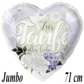 Zur Taufe alles Liebe, Jumbo Luftballon aus Folie ohne Helium-Ballongas
