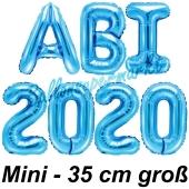 Abi 2020, Luftballons, 35 cm, Blau zur Abiturfeier