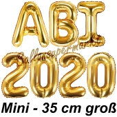 Abi 2020, Luftballons, 35 cm, Gold zur Abiturfeier