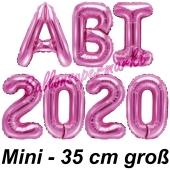 Abi 2020, Luftballons, 35 cm, Pink zur Abiturfeier