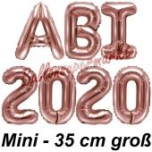 Abi 2020, Luftballons, 35 cm, Rose Gold zur Abiturfeier