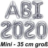 Abi 2020, Luftballons, 35 cm, Silber zur Abiturfeier