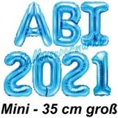 Abi 2021, Luftballons, 35 cm, Blau zur Abiturfeier