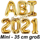 Abi 2021, Luftballons, 35 cm, Gold zur Abiturfeier