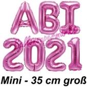 Abi 2021, Luftballons, 35 cm, Pink zur Abiturfeier