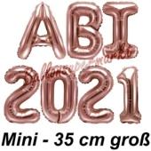 Abi 2021, Luftballons, 35 cm, Rose Gold zur Abiturfeier