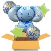 5 Luftballons zur Geburt, Mädchen, Baby Boy, Ballons mit Heliumgas