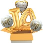 5 Hochzeitsballons, Alles Gute zum Jawort, Mrs & Mrs, inklusive Ballongas Helium