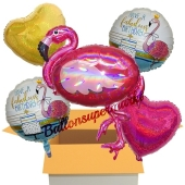 5 Stück Luftballons zum Geburtstag, Fabulous Birthday Flamingo