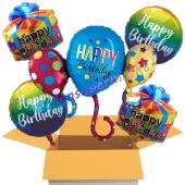 5 Stück Luftballons zum Geburtstag, Happy Birthday Balloons