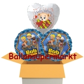 3 Luftballons aus Folie zum Geburtstag mit dem neuen Bob der Baumeister