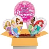 Happy Birthday Prinzessin , 3 Stück Luftballons aus Folie zum Geburtstag, inklusive Helium