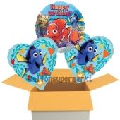 Happy Birthday Findet Dorie, 3 Stück Luftballons aus Folie zum Geburtstag, inklusive Helium
