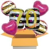 5 Luftballons zum 70. Geburtstag, Pink and Gold Milestone Birthday