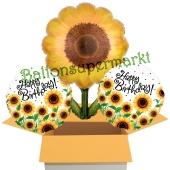 Birthday Sunflowers, Ballons mit Helium