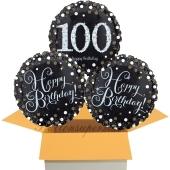 3 Luftballons aus Folie zum 100. Geburtstag, Sparkling Celebration