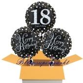 3 Luftballons aus Folie zum 18. Geburtstag, Sparkling Celebration