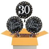 3 Luftballons aus Folie zum 30. Geburtstag, Sparkling Celebration