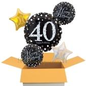 5 Luftballons aus Folie zum 40. Geburtstag, Sparkling Celebration Birthday 40