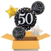 5 Luftballons aus Folie zum 50. Geburtstag, Sparkling Celebration Birthday 50