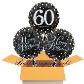 3 Luftballons aus Folie zum 60. Geburtstag, Sparkling Celebration