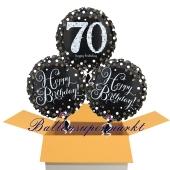 3 Luftballons aus Folie zum 70. Geburtstag, Sparkling Celebration