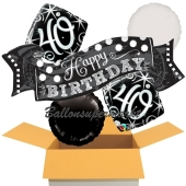 5 Luftballons zum 40. Geburtstag, Elegant Birthday