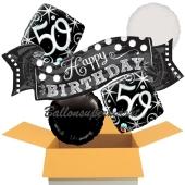 5 Luftballons zum 50. Geburtstag, Elegant Birthday