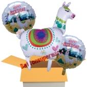 3 Stück Luftballons zum Geburtstag, Happy Birthday Lama