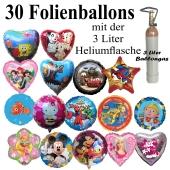 Ballons Helium Midi Set 30 Folienballons mit 3 Liter Ballongas, Lieferung und Abholung