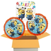 Hooray Party Minions, 3 Stück Luftballons aus Folie zum Geburtstag, inklusive Helium