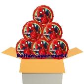 6 Stück Luftballons aus Folie, Ultimate Spider-Man inklusive Helium