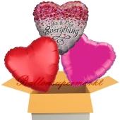 You're My Everything, 3 Stück Luftballons aus Folie als Liebesbotschaft, inklusive Helium