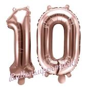 Luftballons Zahl 10, roségold, 35 cm
