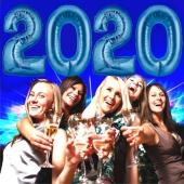 Luftballon Zahlendekoration 2020 in Blau