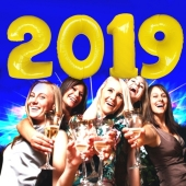 Zahlendekoration Silvester 2019, gelb, 1 m grosse Zahlen, befüllbare Ballons aus Folie