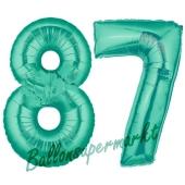 87 . Geburtstag, 100 cm, inklusive Helium