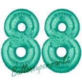 88 . Geburtstag, 100 cm, inklusive Helium