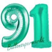 91 . Geburtstag, 100 cm, inklusive Helium