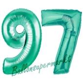 97 . Geburtstag, 100 cm, inklusive Helium