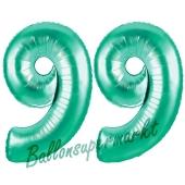 99 . Geburtstag, 100 cm, inklusive Helium
