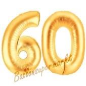 Zahl 60, Silber, Luftballons aus Folie zum 60. Geburtstag