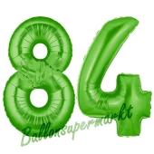 Zahl 84 Grün Luftballons aus Folie zum 84. Geburtstag, 100 cm, inklusive Helium