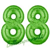 Zahl 88 Grün Luftballons aus Folie zum 88. Geburtstag, 100 cm, inklusive Helium