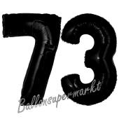 Zahl 73 Schwarz, Luftballons aus Folie zum 73. Geburtstag, 100 cm, inklusive Helium